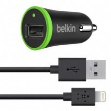 Автомобильное ЗУ Belkin USB Charger (LIGHTNING cable, USB 1Amp), Черный