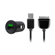 Автомобильное ЗУ Belkin USB MicroCharger (Samsung 30-pin сable, USB 2.1Amp), Черный